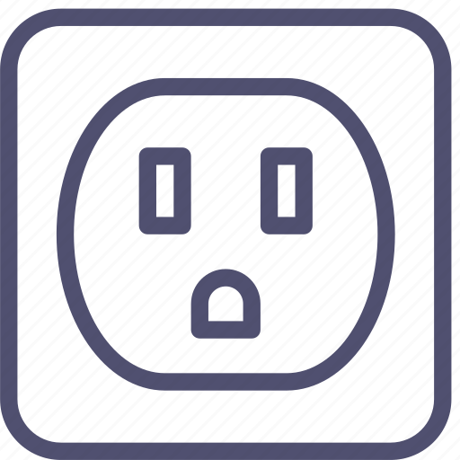 electric, socket icon