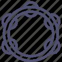 instrument, music, tambourine icon