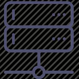 backup, base, connect, data, database, network, rack, server icon