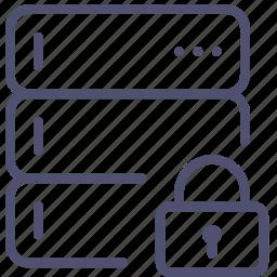 backup, base, data, database, lock, private, rack, server icon