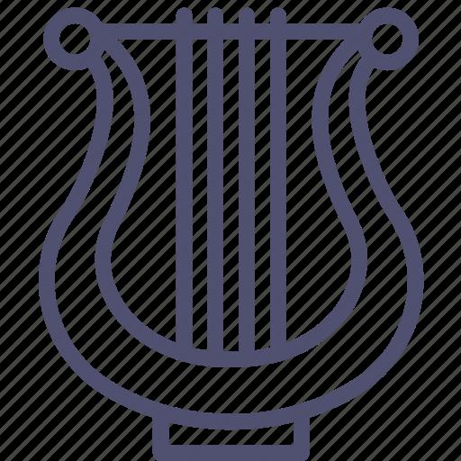 audio, instrument, lyre, music, sound icon