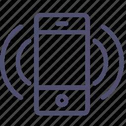 device, mobile, phone, ringtone, smartphone, sound, vibrate icon