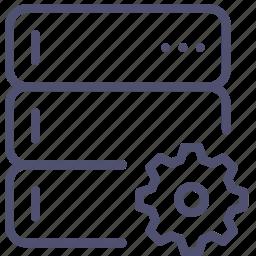 backup, base, data, database, options, rack, server, settings icon