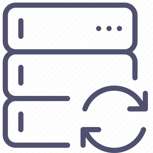 backup, base, data, database, rack, server, sync, synchornization icon