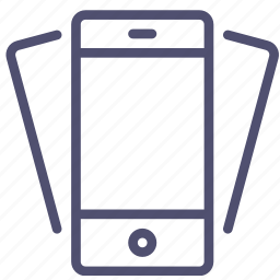 device, mobile, phone, smartphone, tilt icon