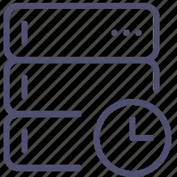 backup, base, data, database, rack, schedule, server, time icon