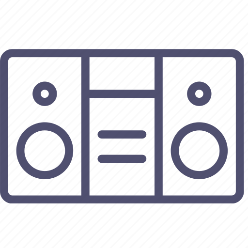 audio, boombox, music, radio, sound, speaker icon