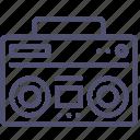 music, boombox, speaker, audio