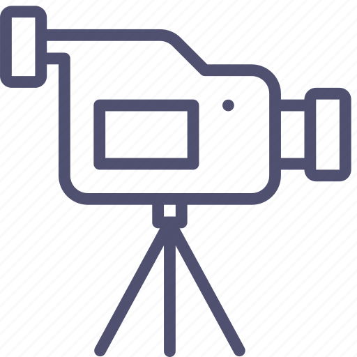 cam, camcorder, camera, device, media, record, stand, tripod, video icon