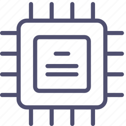 chip, chipset, cpu, hardware, microchip, processor icon