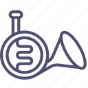 audio, horn, instrument, music, sound, trumpet icon