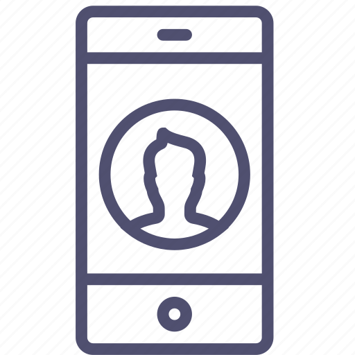 call, contact, device, mobile, phone, portrait, smartphone, vertical icon