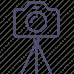 cam, camera, device, digital, dslr, image, multimedia, photo, photography, stand, tripod icon