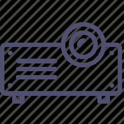 device, presentation, projector icon