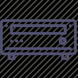 amplifier, bluray, cd, dvd, media, player, receiver icon