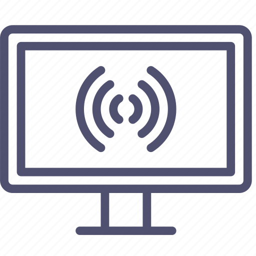broadcast, channel, connection, device, entertainment, hd, internet, television, tv, watch, wifi icon