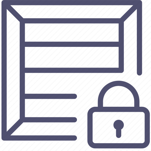 box, bundle, cargo, crate, lock, package, parcel, product, shipping icon