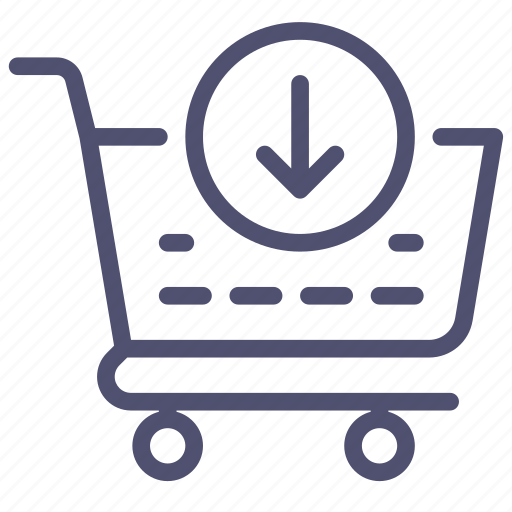 add, basket, buy, cart, check, checkout, ecommerce, in, out, put, shop, shopping, store icon