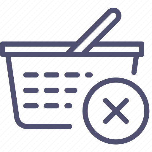 basket, buy, cart, check, checkout, delete, ecommerce, out, remove, shop, shopping, store icon