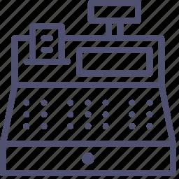 box, cashier, register, shop, tash, till icon