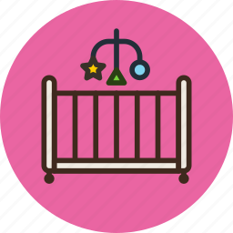 baby, bed, child, lullaby, mobile, sleep, toy icon
