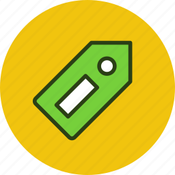 bookmark, information, price, tag icon