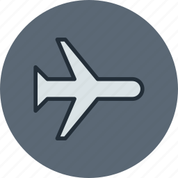 air, airplane, fly, mode, plane, transport icon