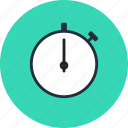 distance, stopwatch, time, timer icon