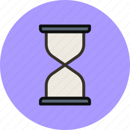clock, date, hourglass, loading, sand, time, waiting icon