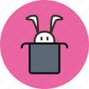 hat, magic, rabbit, wizard icon