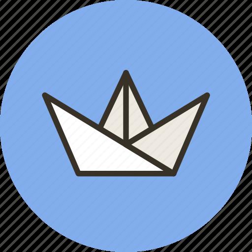 hobby, nautilus, origami, paper icon