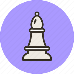 bishop, chess, figure, games, strategy icon