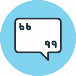 bubble, chat, comment, message, quote, talk icon