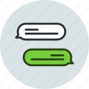 bubble, chat, comment, conversation, message, talk icon