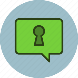 bubble, chat, comment, message, private, secret, talk icon