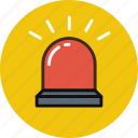 alarm, flasher, light, red, warning icon