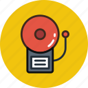 alarm, bell, fire, ring icon