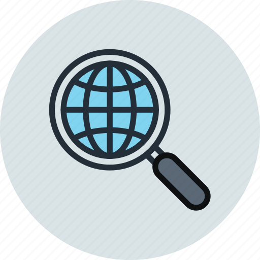 find, globe, internet, network, search, seo, web icon
