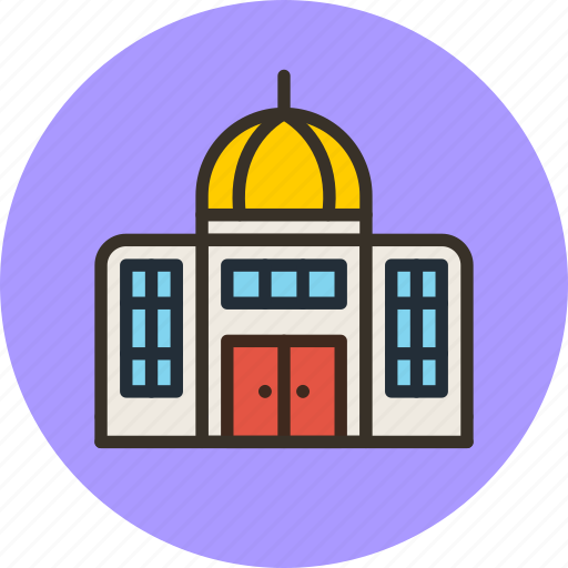 administration, building, government, museum icon
