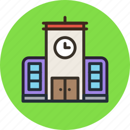 building, chime, house, school icon