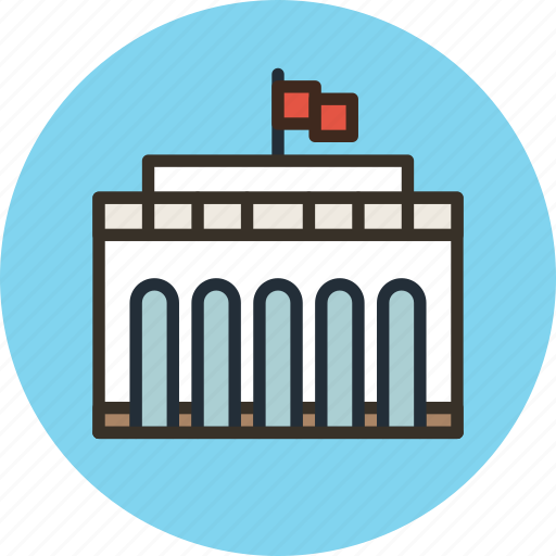 administration, building, government, icojam, official icon