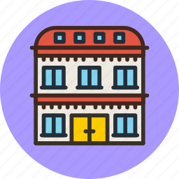 apartment, building, hotel, house icon