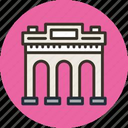 arc, building, entry, gate, triumph icon