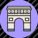 building, triomphe, paris, arc, gate, triumph