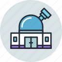 building, observatory, planetarium, space, stars icon
