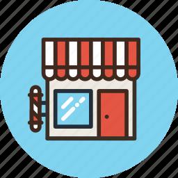 barbershop, building, shop, store icon