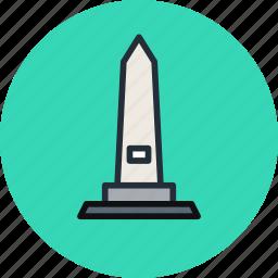 heroes, memorial, memory, obelisk, stella icon