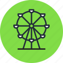 fancity, ferris, lunapark, park, wheel icon