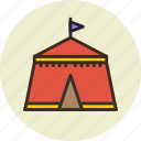 camp, fair, park, tent icon