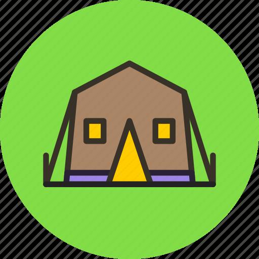 camp, tent, travel, wild icon